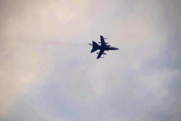 Zwei Kampfflieger über dem Erzgebirge gesichtet