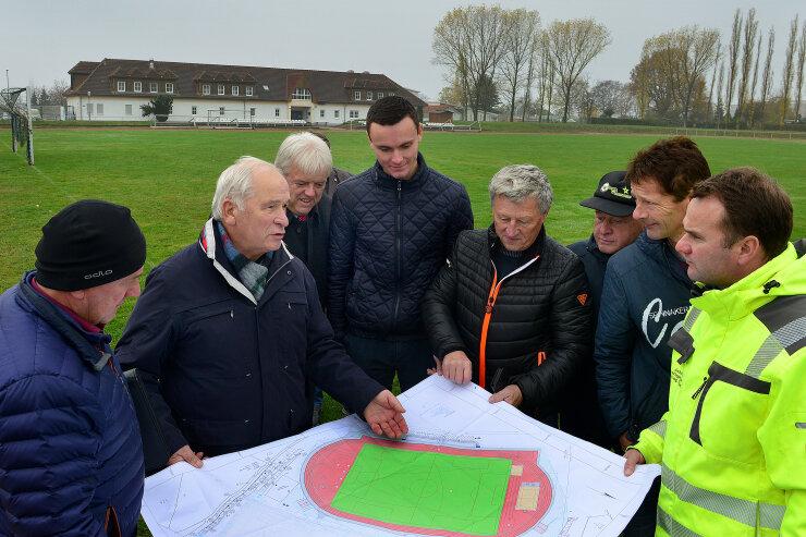 In Hainichen beginnen Arbeiten für neue Leichtathletikanlage