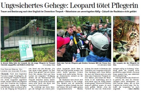 Chemnitz: Tierpfleger von Leopardin angefallen