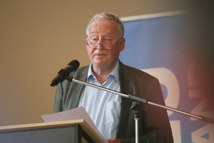 AfD-Chef Gauland wirbt in Chemnitz für Atomkraftwerke