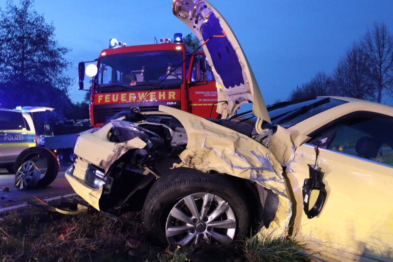 Unfall zwischen Oberlichtenau und Ebersdorf - Freie Presse